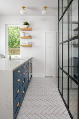 White Herringbone Non-Slip Floor Tiles