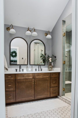 Classic Hexagon Floor Tile Bathroom feat. Foundations