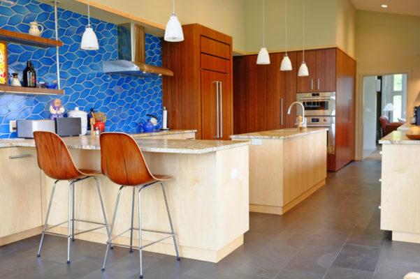 Patterned Kitchen Tiles in Aegean Sea