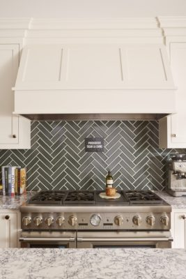 Hygge & West: Herringbone Tiles Kitchen Backsplash