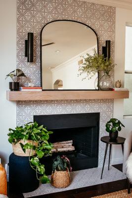 Anita Yokota: Custom Handpainted Fireplace Tiles
