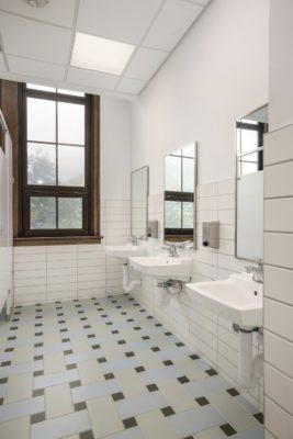 Detroit Prep: Basketweave Non-Slip Bathroom Floor Tiles