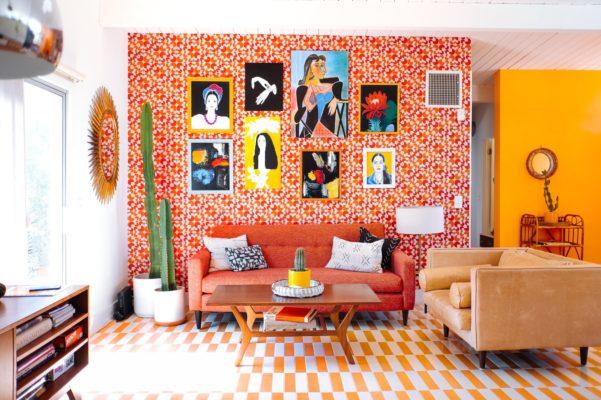 Dazey Desert House: Bold Handmade Floor Tiles