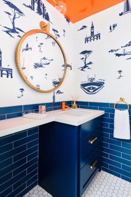 Noz Design: Blue Bathroom Tiles