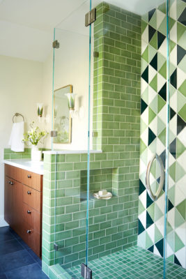 Retro Green Bathroom Tiles