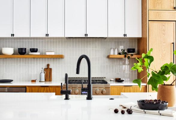 French Linen Kitchen Backsplash