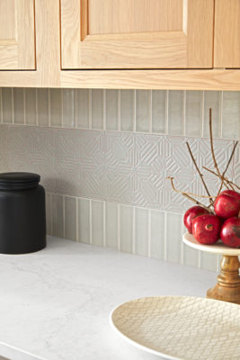 House Beautiful Jo Saltz's Grey Kitchen Tiles