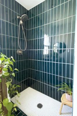 Caspian Sea Blue Bathroom Tiles