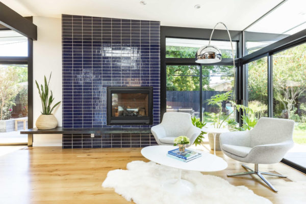 Destination Eichler: Glazed Thin Brick Fireplace