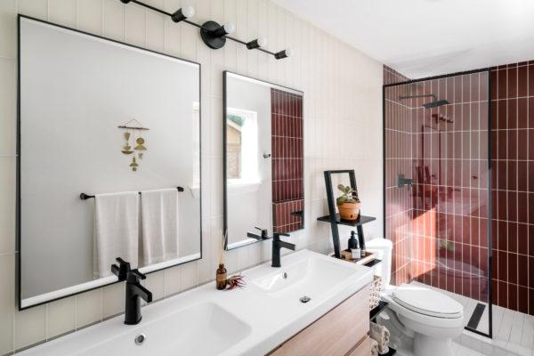 Chase + Lauren Daniel: Glass Tile Bathroom