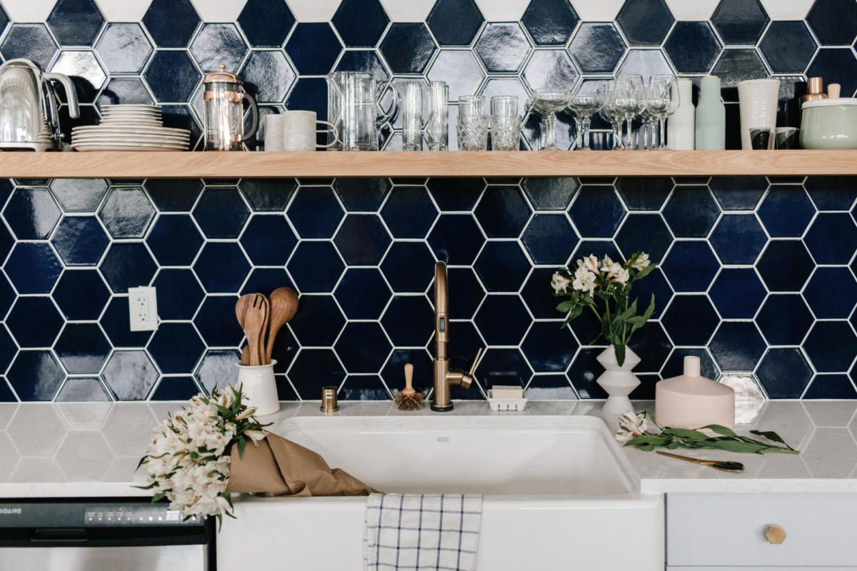 Image of: Color Spotlight Navy Blue Fireclay Tile