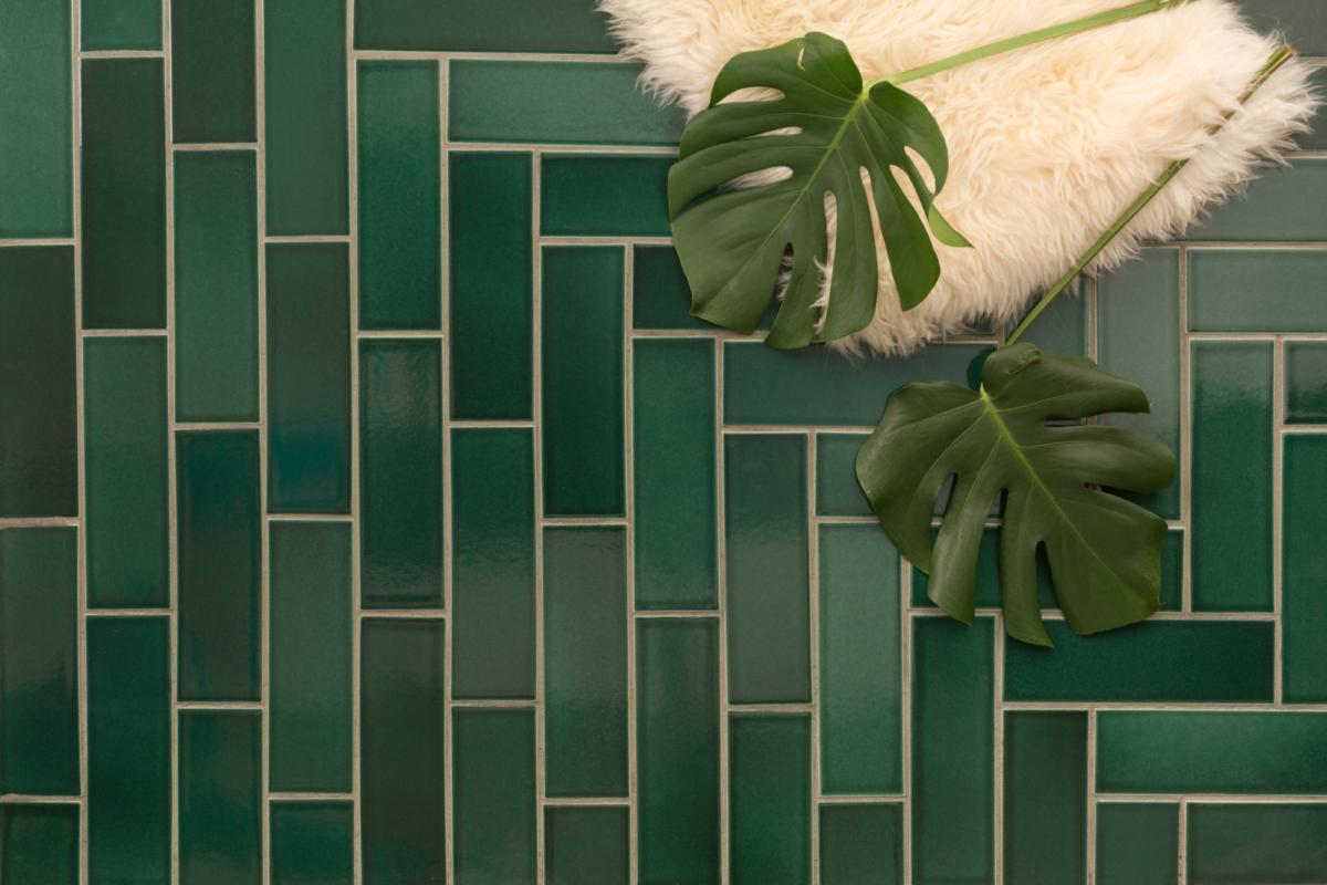 Dark Green Tile Fireclay