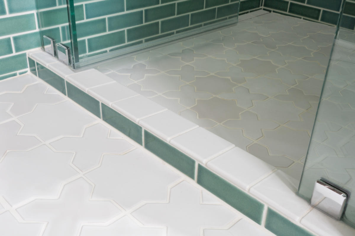 White Grout And Tile Floors