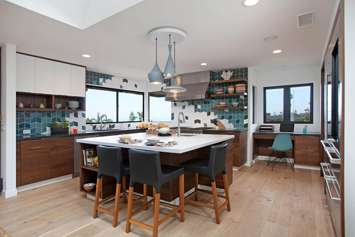 - Uniquely Bold Kitchen Backsplash Fireclay Tile