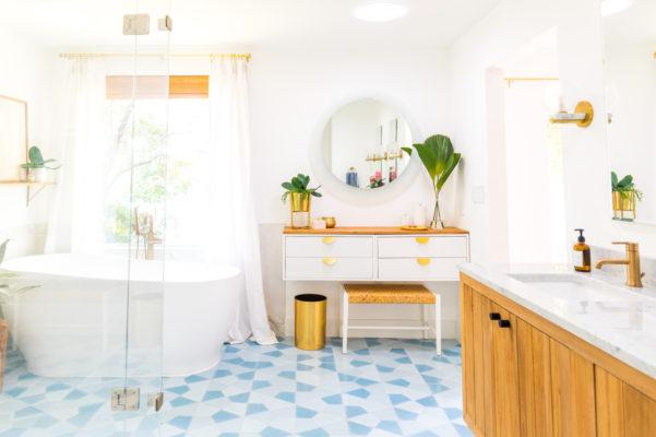 Sugar & Cloth: Master Bathroom Floor