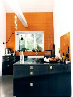 Tile Color Spotlight: Orange & Black Make a Comeback