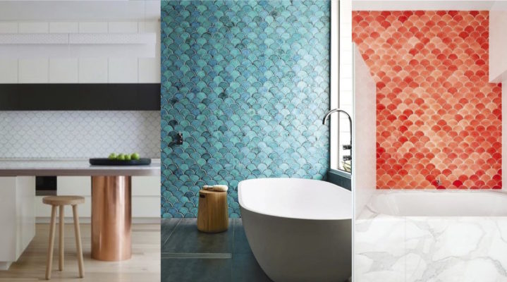 Fish Scale Tile Across the Color Spectrum