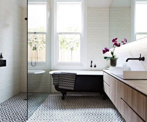 Make a Nonstop Statement with Shower Tile