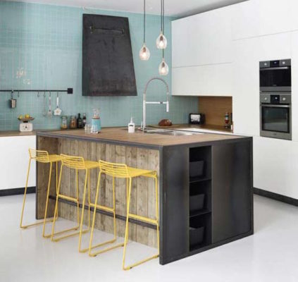 Tile Color Spotlight: 3 Moods with Blue and Yellow