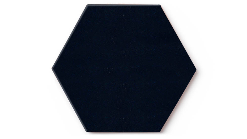 Navy Blue Hex Backsplash Fireclay Tile