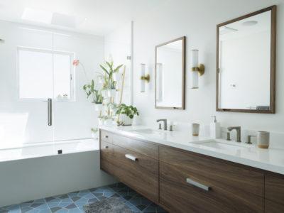 Hexite Blend Bathroom Floor Tile