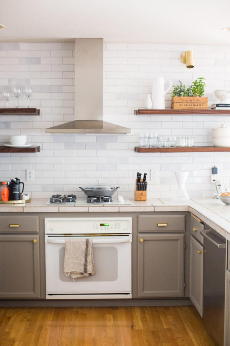 Rustic White Brick Kitchen Backsplash | Fireclay Tile