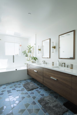 Hexite Blend Bathroom Floor Tile