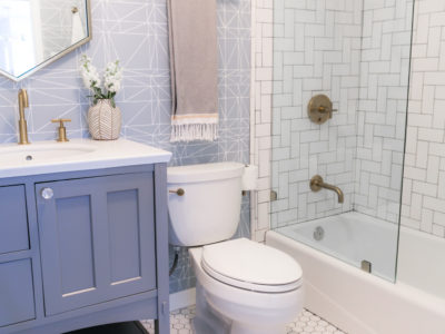 Jaclyn Johnson's Poshly-Patterned Bathroom