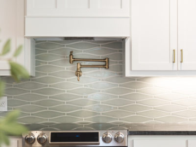 Silver Haze Wave Kitchen Backsplash