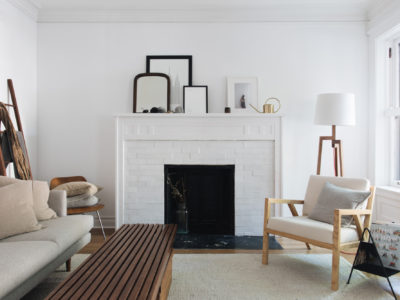 A Fireplace White as Snow