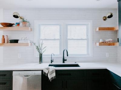 White Mountains Brick Kitchen Backsplash