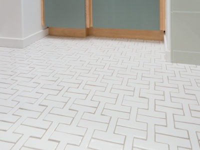 Bathroom Tile Gets a Chic Shape-Up