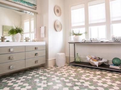 Ogee Drop Bathroom Floor Tile