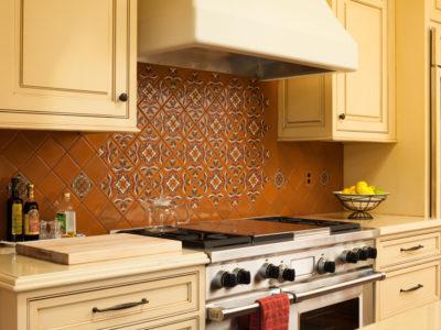 Warm Handpainted Kitchen