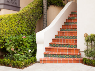 Spanish Colonial Staircase in San Francisco