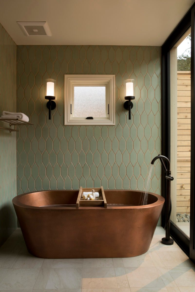 Bernardus Lodge Amp Spa Bathroom Fireclay Tile