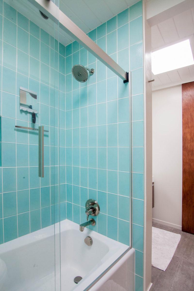 mt ranier eichler 4x8 aqua bathroom  fireclay tile