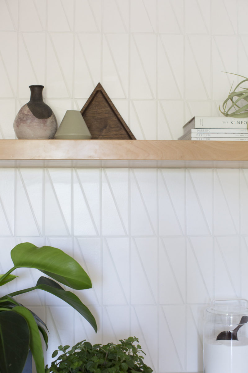 - Turlock Showhouse: Scalene Triangle Laundry Room Fireclay Tile