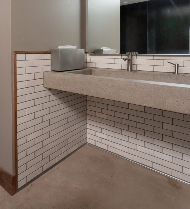 Restaurant Bathroom Gets A Rustic Touch Fireclay Tile
