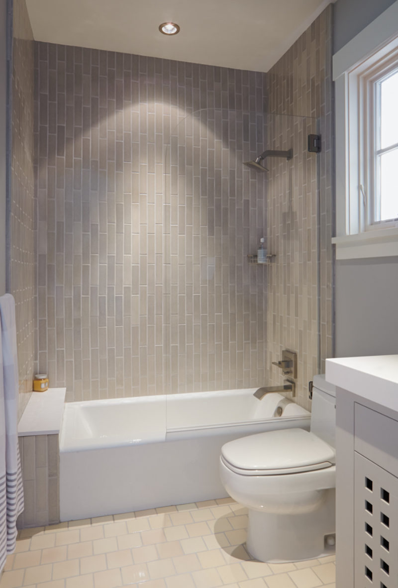 Subtle And Sophisticated Bathroom Fireclay Tile