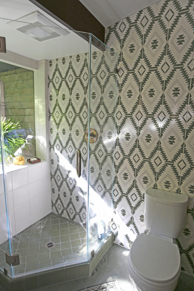 Lush Meets Luxe Double Bathroom Remodel Fireclay Tile