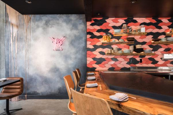 Robin Sushi's Koi Fish-Inspired Backsplash