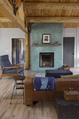 Floor-to-Ceiling Fireplace Tile Surround