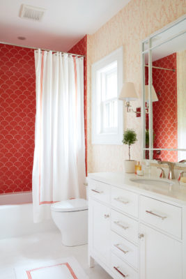 Coastal Living Tangerine Ogee Drop Bathroom