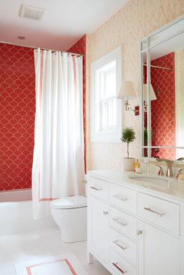 Coastal Living Tangerine Ogee Drop Bathroom