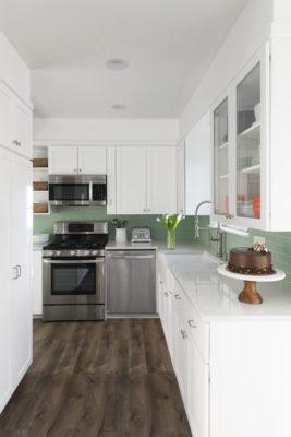2x8 Sea Glass Kitchen Backsplash
