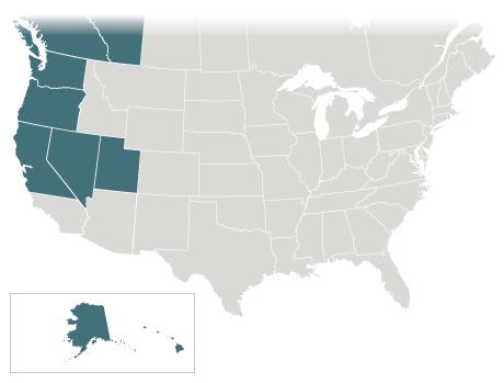 The Northwest: Norcal, OR, WA, NV, UT, AK, HI, British Columbia, Alberta