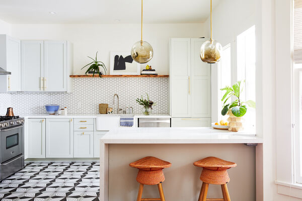 Lonny Magazine: Palmera Kitchen Floor Tile