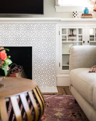 Handpainted Sintra Fireplace