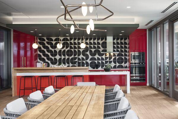 Aven Apartments: Handpainted Tile Backsplash